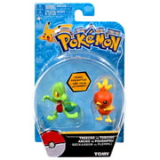 "Pokemon Action Pose Treecko vs Torchic 2"" Mini Figure 2-Pack"