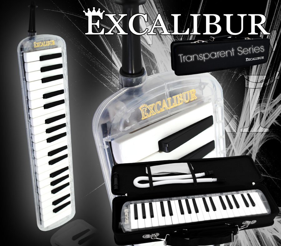 Excalibur Melodica Transparent Series Excalibur Melodica Clear Rain by
