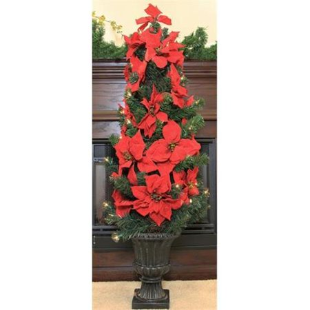 northlight 46 inch pre lit red artificial poinsettia