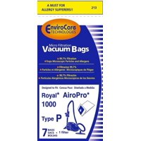 Royal Air Pro 1000 Canister Type P Bag 7 Bag & 1 Filter Part #213