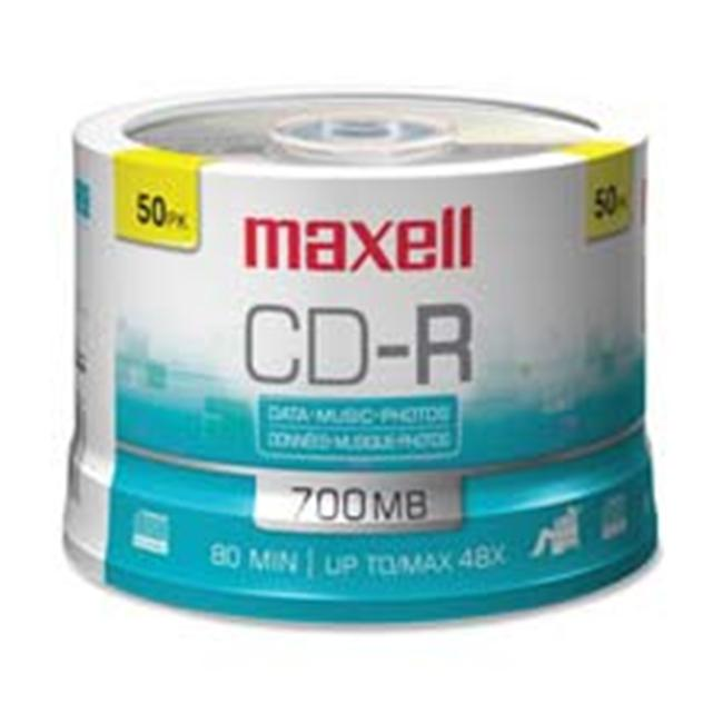 Maxell Corp. Of America MAX648200 CD-R- 80 Min-700MB- 48X- Branded- 100-PK