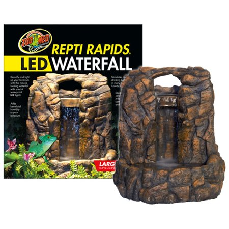 Zoo Med Repti Rapids Led Waterfall Rock Style Large