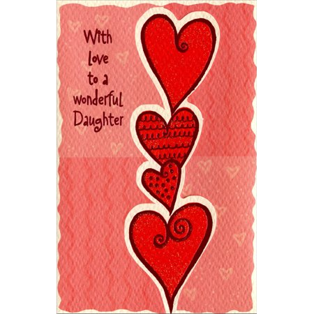 Freedom Greetings Tower of Hearts: Daughter Valentine's Day Card](Big Valentines Day Cards)