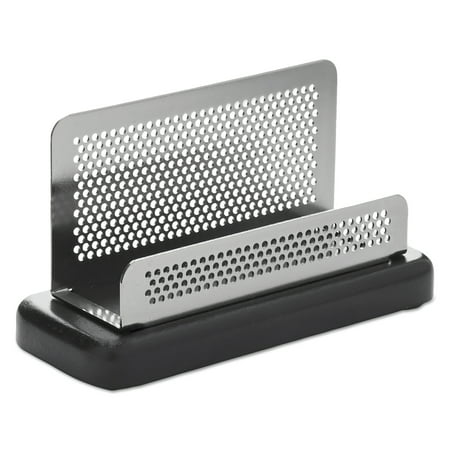 Rolodex Distinctions Business Card Holder, Capacity 50 2 1/4 x 4 Cards, Metal/Black](Cord Holders)