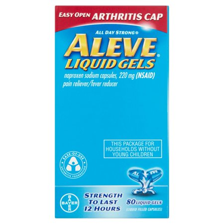 Aleve Arthritis Naproxen Pain Reliever Fever Reducer 220 Mg  80 Ct