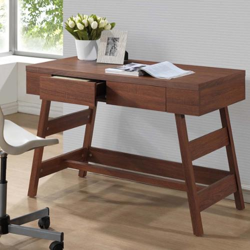 Baxton Studio  Trapezoid Sonoma Oak Finishing Modern Writing Desk
