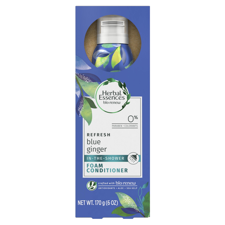 Herbal Essences Bio:Renew Blue Ginger In-The-Shower Foam Conditioner, 6 oz