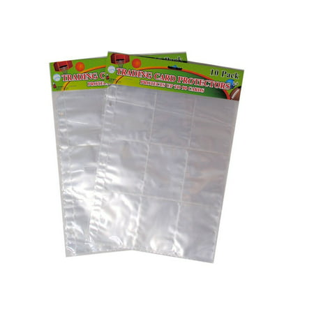 Trading Card Protector Sheets 9 Pocket X 20 Plastic Pages Holds 180 Cards -3 Ring