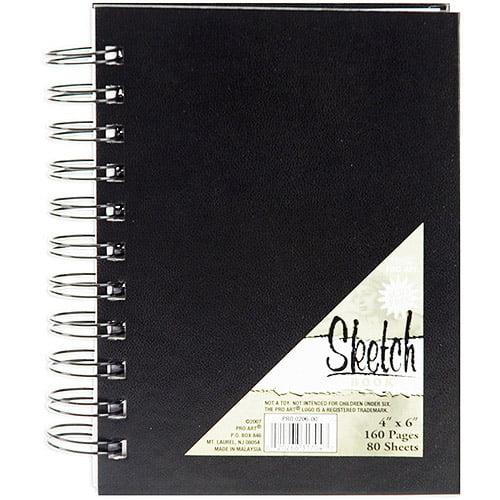 Pro Art Spiral Bound Sketch Book, 80 Sheets
