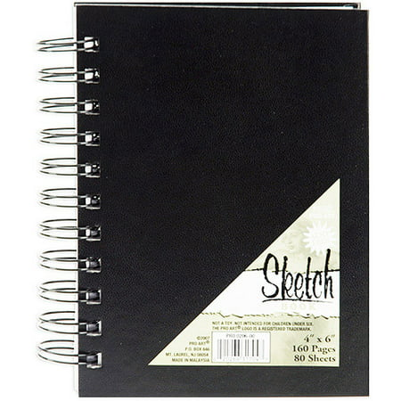 Black Scratch Art Paper (Pro Art Spiral Bound Sketch Book, 80)