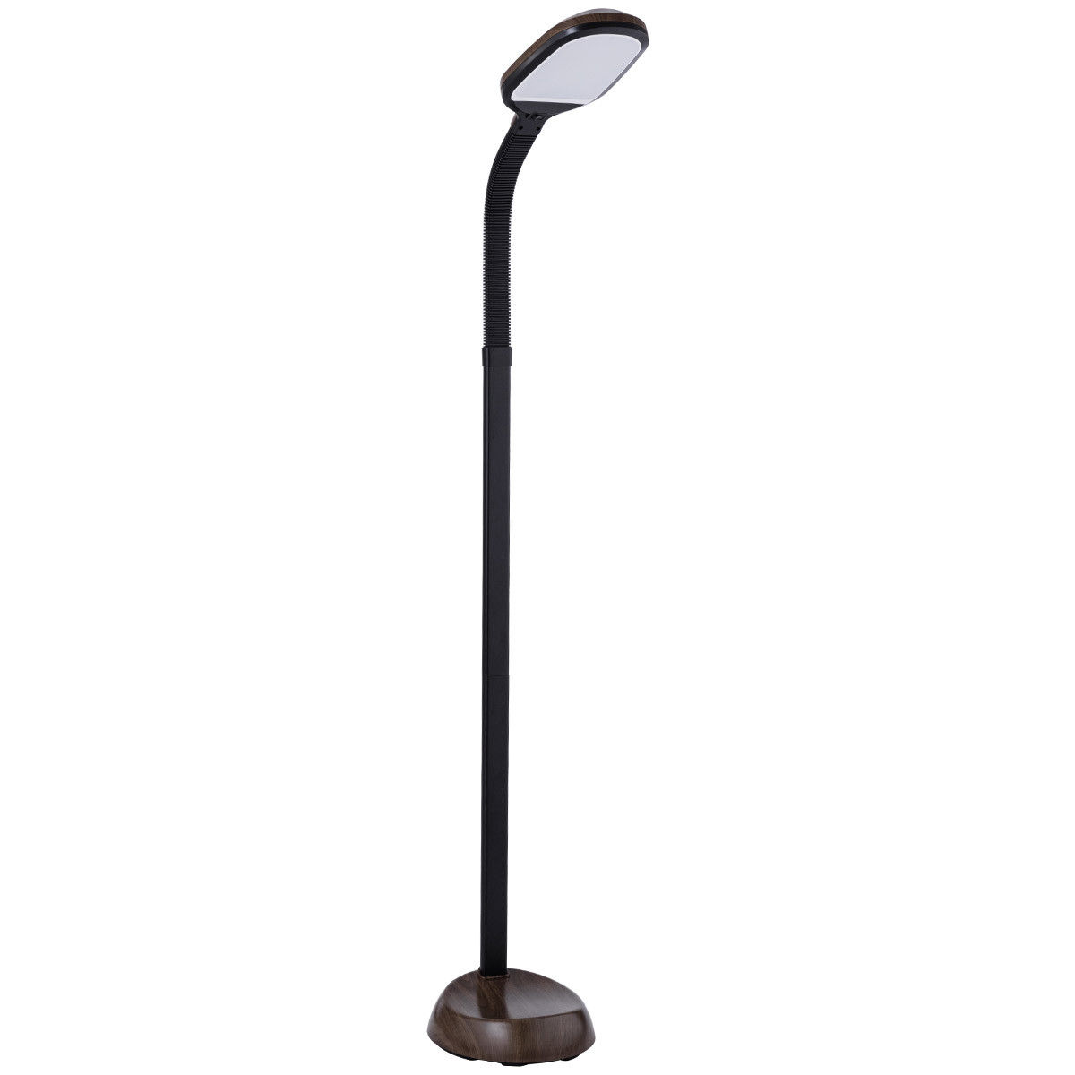 Costway LED Reading Light Standing Floor Lamp Adjustable Gooseneck Energy Saving Oak by Costway