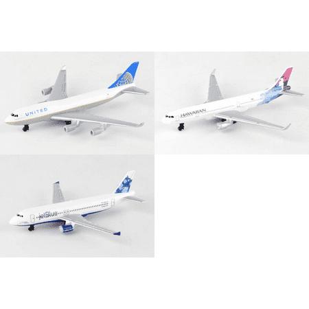 United  Hawaiian  Jetblue Airlines Diecast Airplane Package   Three 5 5  Diecast Model Planes
