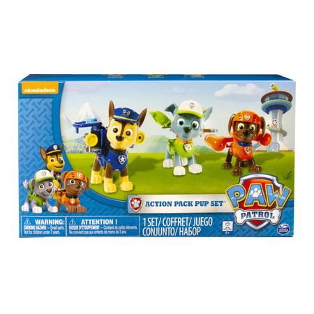 f91e81816 Paw Patrol Action Pack Pups 3Pk Figure Set Chase, Rocky, Zuma - Walmart.com