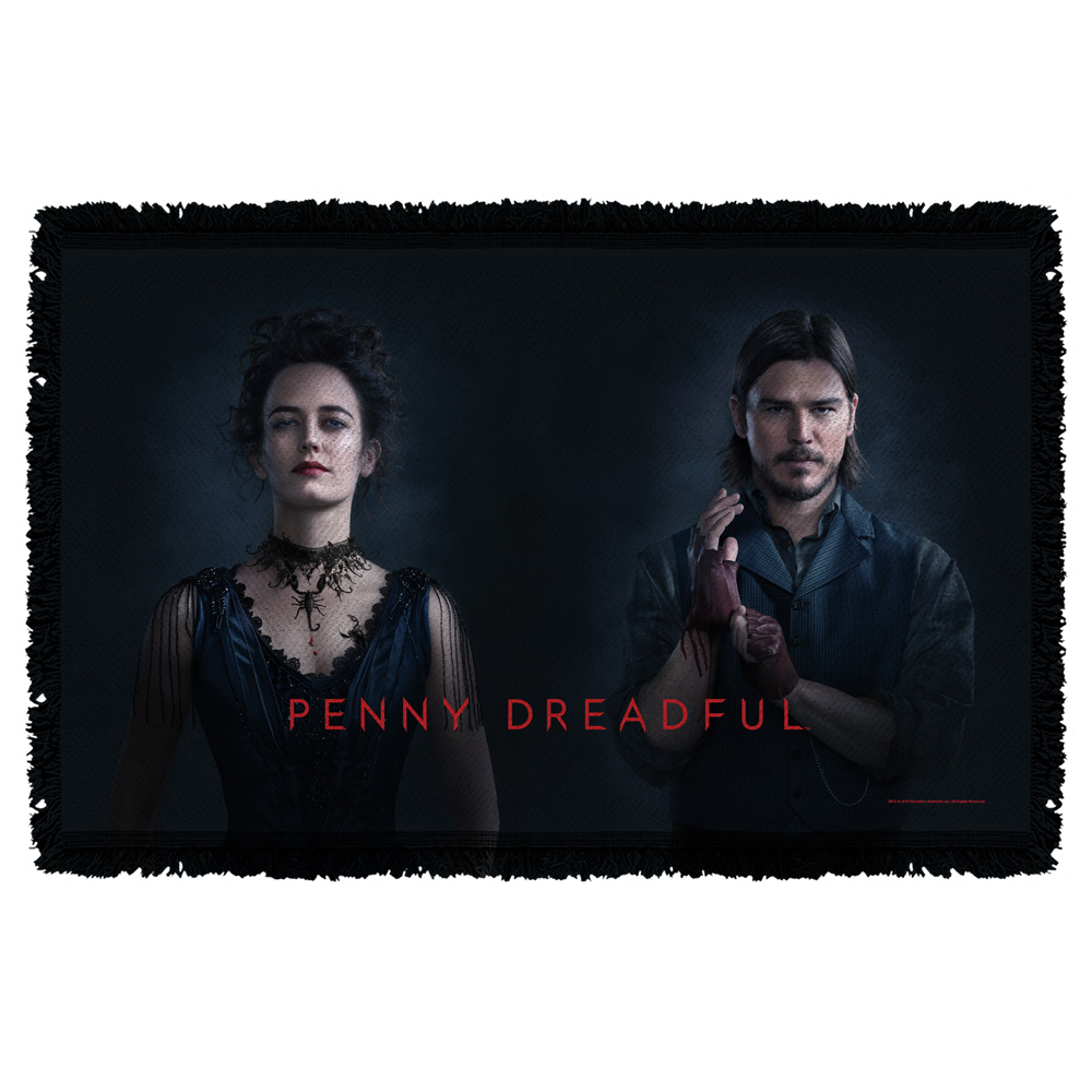 Penny Dreadful Chandler And Ives Woven Throw Tapestry 36X60 White One Size
