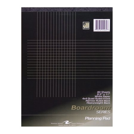 boardroom planning pad 8 5 x11 4x4 graph ruled narrow ruled