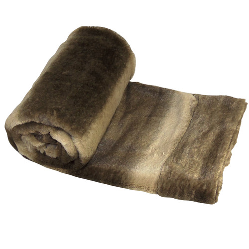BOON Throw & Blanket Wolf Double Sided Faux Fur Throw Blanket by Nantong BNF Textile Co.