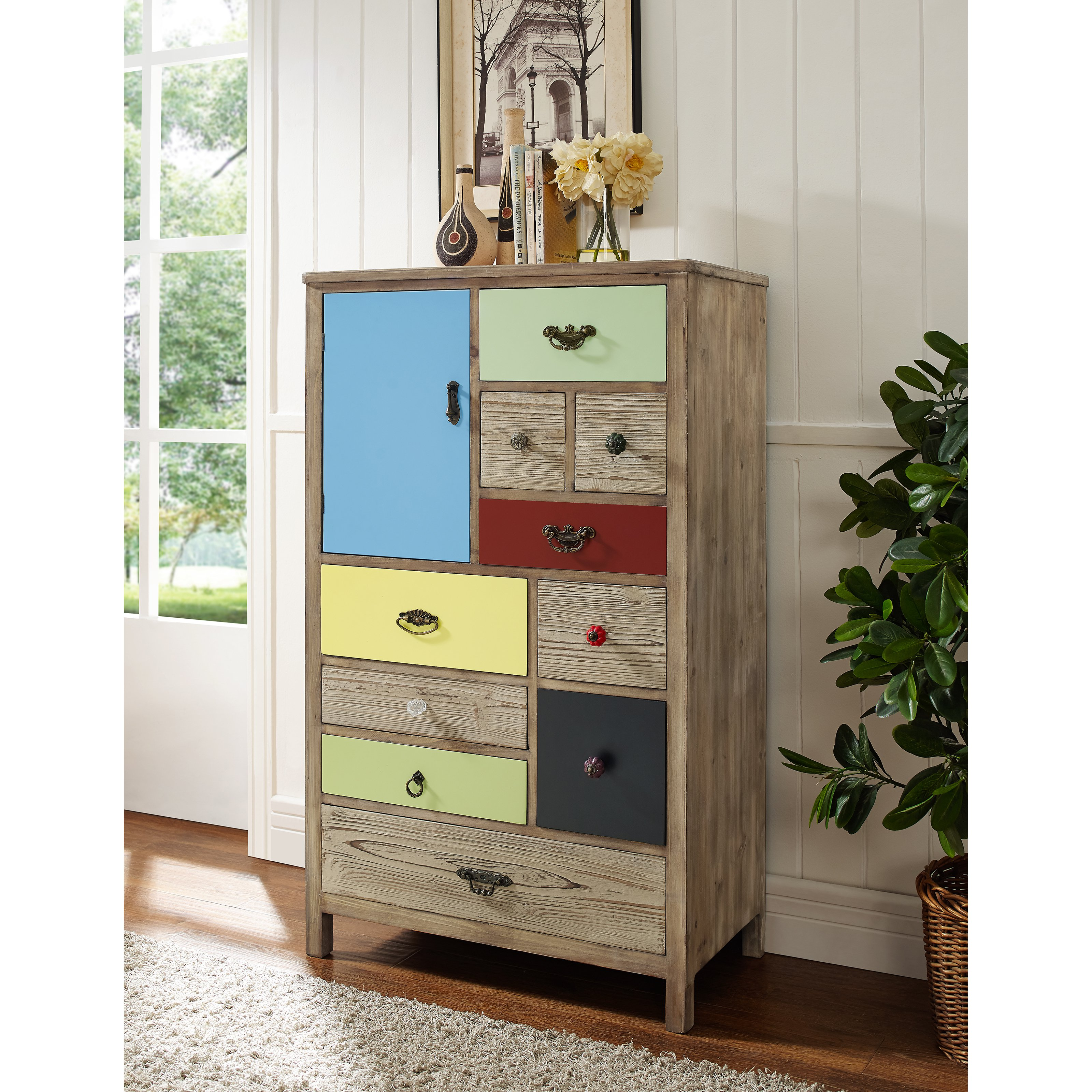 Powell Pamlico 10 Drawer Chest