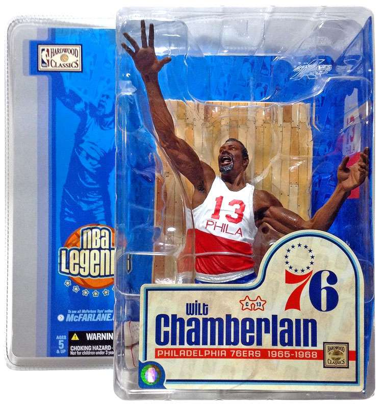 Wilt Chamberlain Action Figure White & Red Jersey NBA