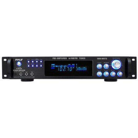 1000 Watts Hybrid Home Stereo Receiver Amplifier w AM FM Tuner by