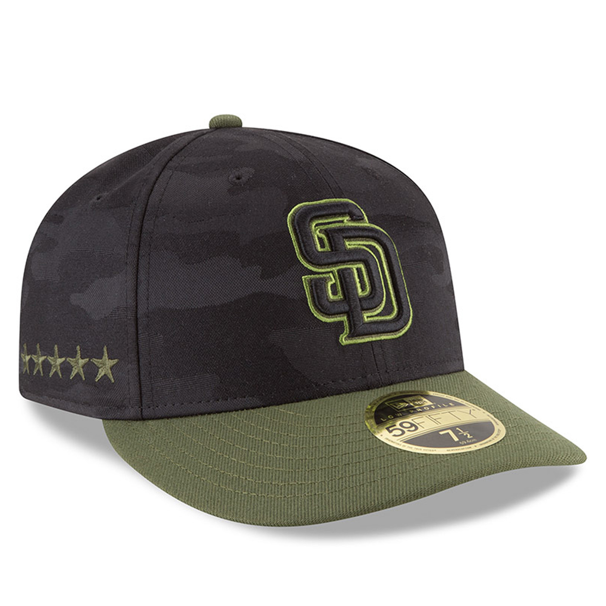 San Diego Padres New Era 2018 Memorial Day On-Field Low Profile 59FIFTY Fitted Hat - Black
