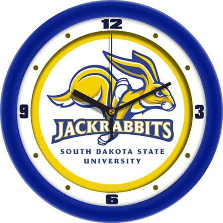 Glass Ncaa Clock - South Dakota State Jackrabbits NCAA Traditional Wall Clock
