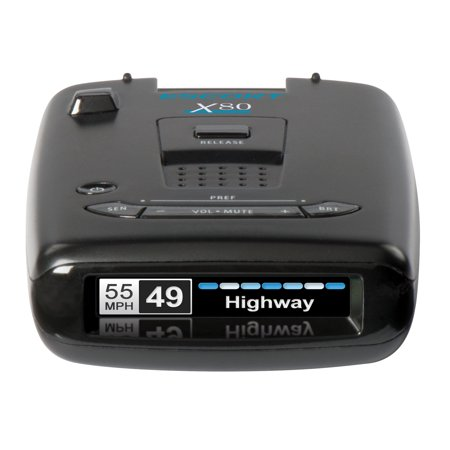 ESCORT X80 Connected Laser & Radar Detector w/ Live Streaming Alerts from the Cobra / ESCORT Driver Network. (0100018-4)