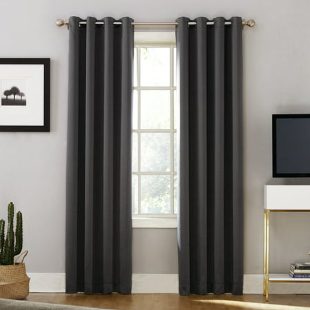 Sun Zero Oslo Theater Grade 100% Blackout Grommet Curtain Panel ()