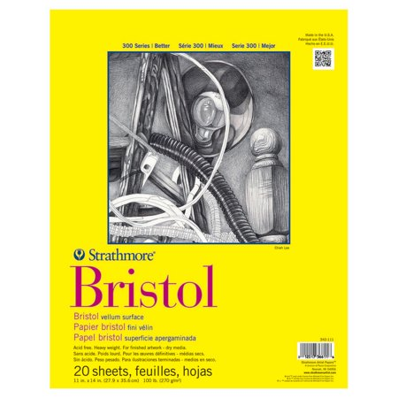 - Strathmore Bristol Paper Pad, 300 Series, Regular, 11in x 14inin