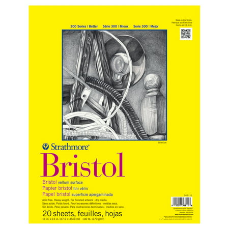 Strathmore Bristol Paper Pad, 300 Series, Regular, 11in x