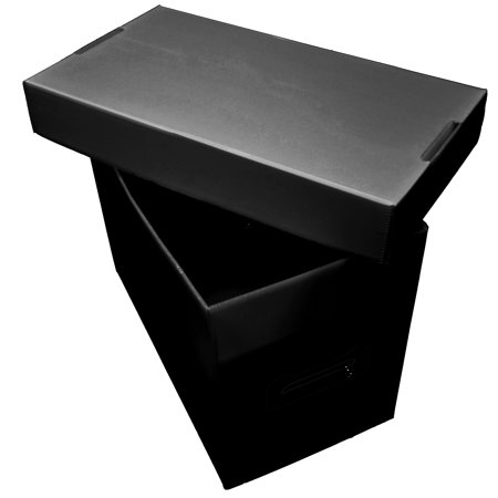 10ct Plastic Short Comic Storage Boxes - Black