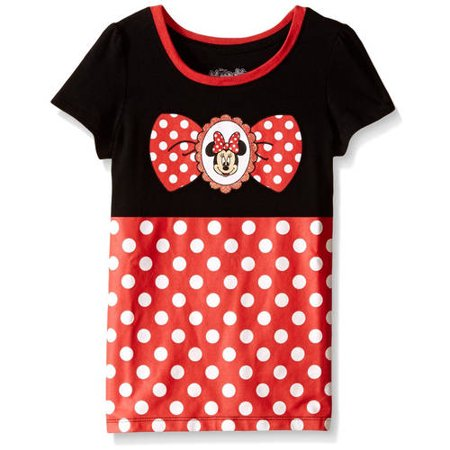 Toddler Girls Minnie Mouse Short Sleeve Costume Tee, Black