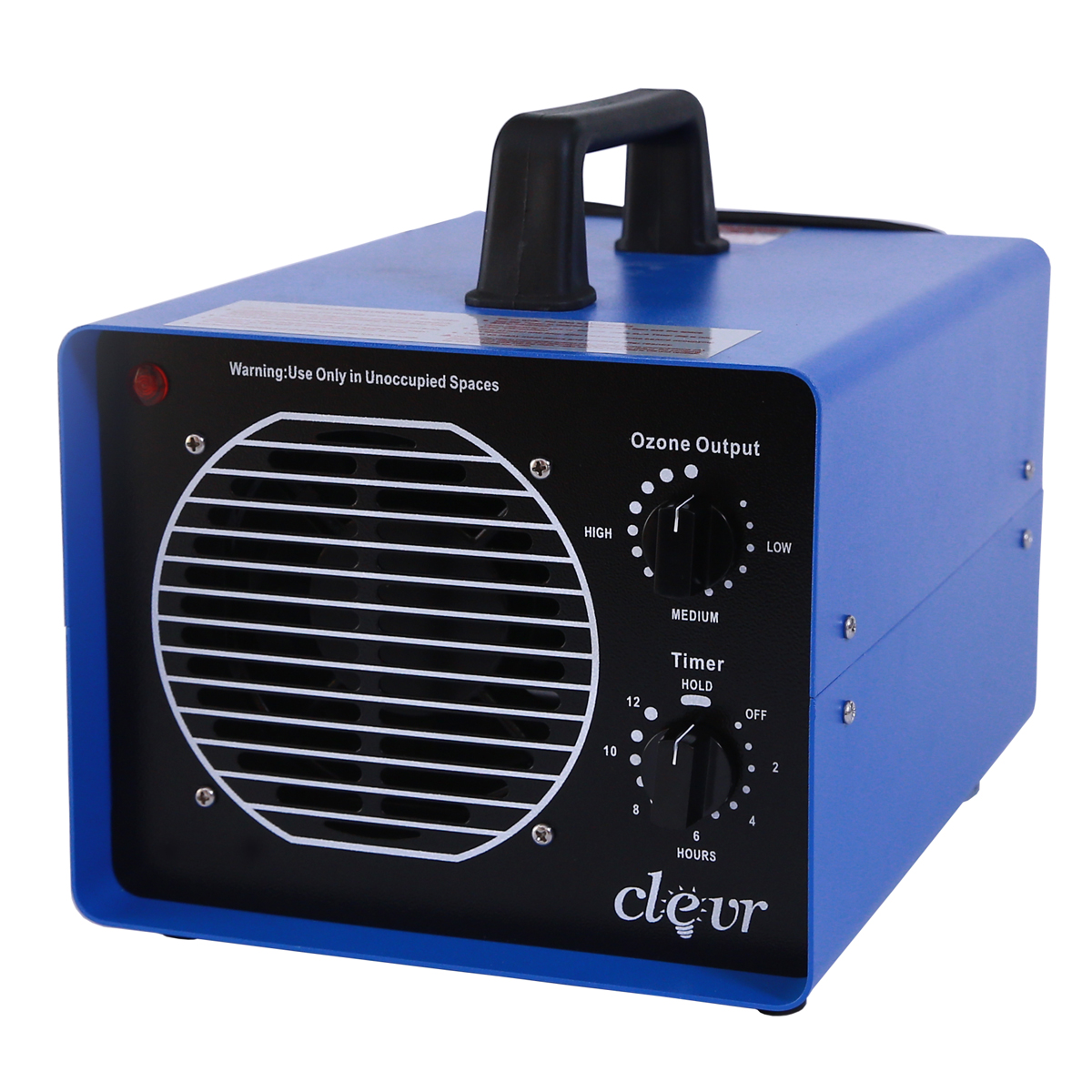 Clevr Professional Grade Ozone Generator with UV, Smoke Odor Remover w  3 plates 3,500 sq.ft. by Clevr