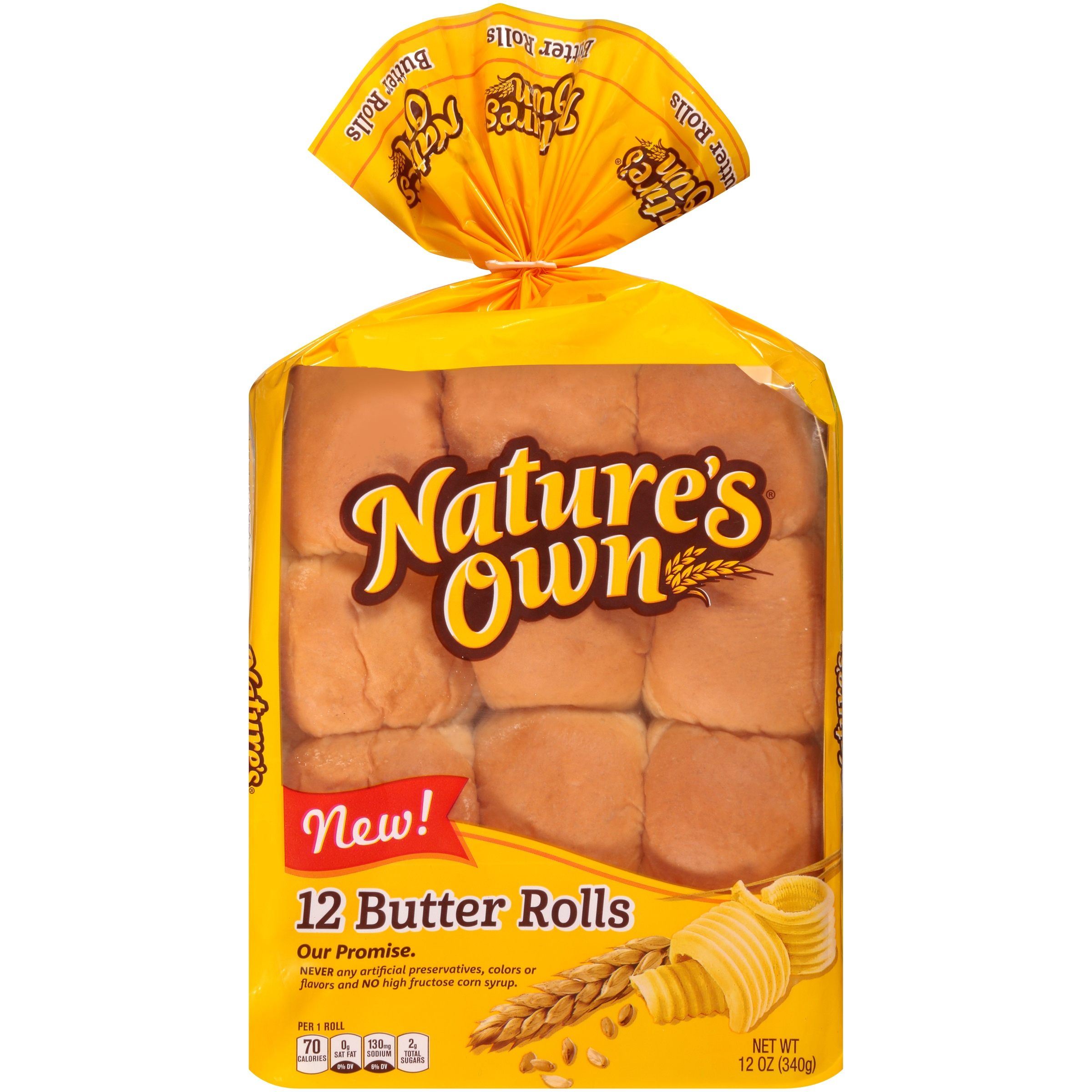 Nature's Own® Butter Rolls 12 ct Bag