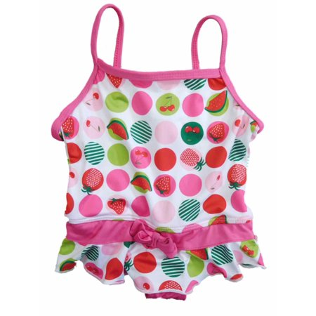 f6a2e0b0774 Pink Platinum - Infant Girls Pink Polka Dot Swimming Cherry & Strawberry  Swim Suit Bathing Suit - Walmart.com