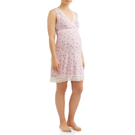 Nurture by LamazeMaternity nursing full coverage sleep (Lace Nursing Chemise)
