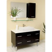 Fresca Stella 43'' Single Distante Modern Bathroom Vanity Set with Mirror