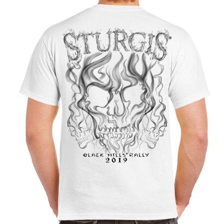 Biker Life 2019 Sturgis Black Hills Rally Smoke Skull (Best Biker T Shirts)
