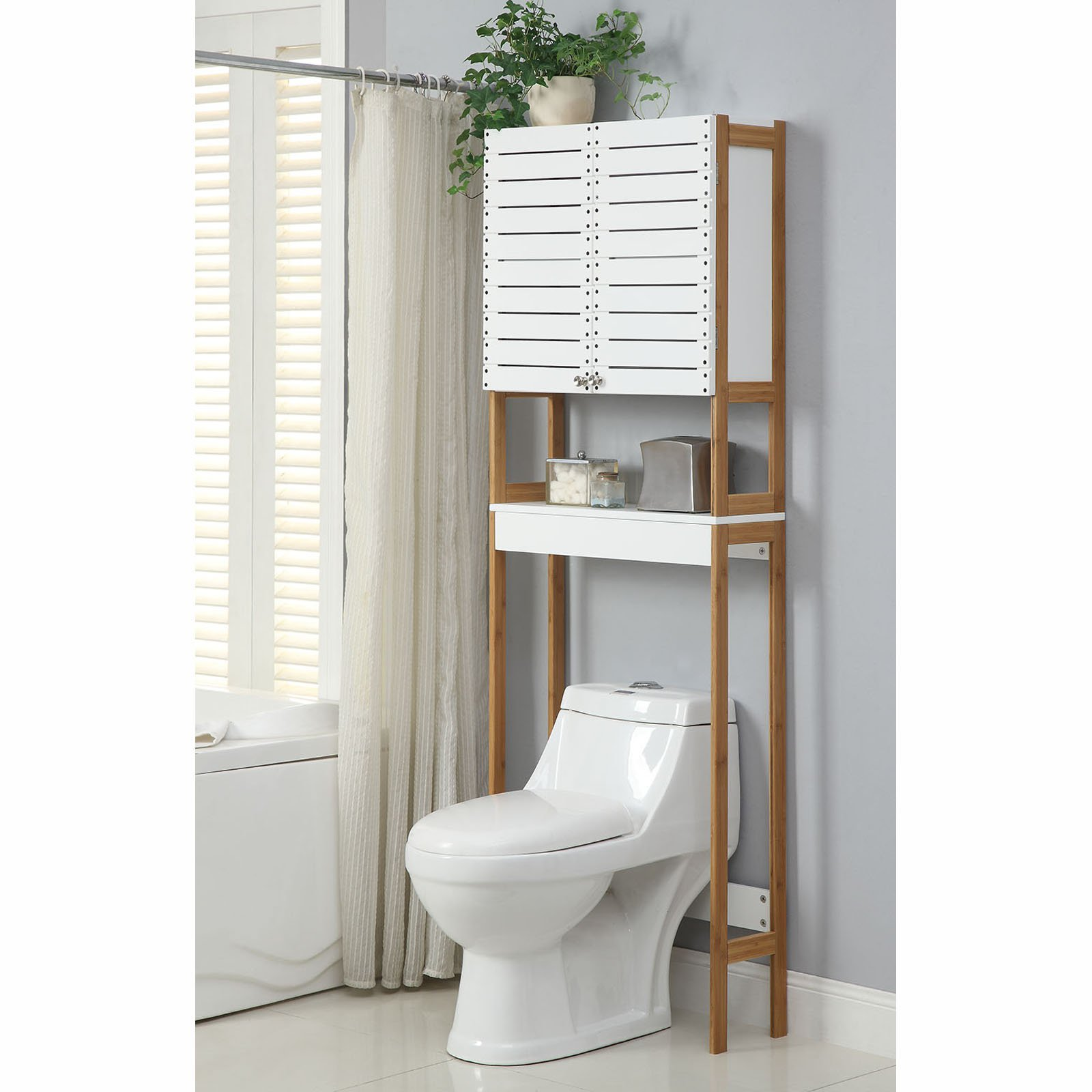 Neu Home Rendition 3-Shelf, 2-Door Bathroom Over the Toilet Space Saver
