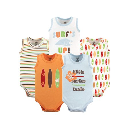 Sleeveless Bodysuits, 5-pack (Baby Boys)