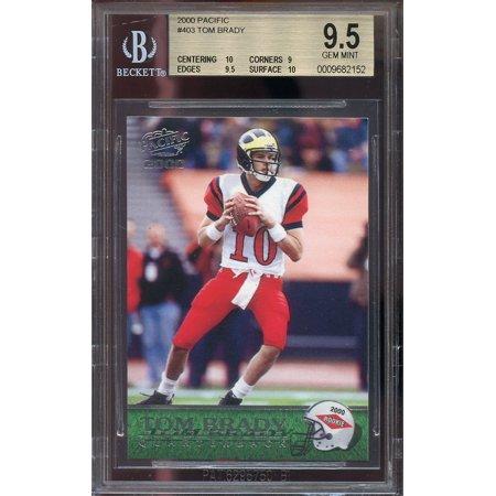 2000 Pacific  403 Tom Brady New England Patriots Rookie Bgs 9 5  10 9 9 5 10