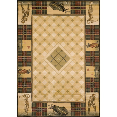 United Weavers Big Timber Golf Pro Natural Woven Polypropylene Area Rug or Runner