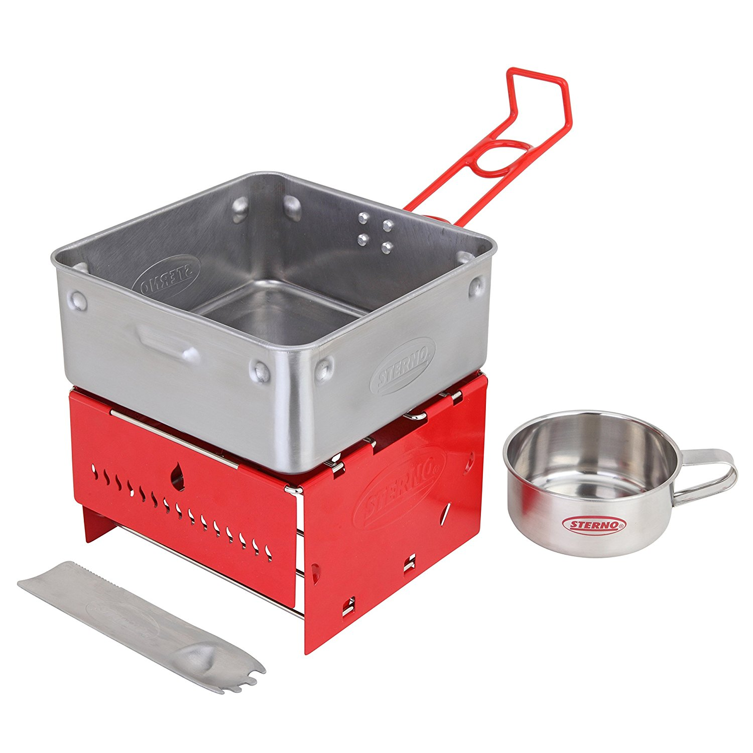 Sterno Camp Stove Kit with Frame and Wind-Shield Panels…