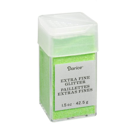 Neon Glitter Saddle Plug (Extra Fine Glitter: Neon Green, 1.5)