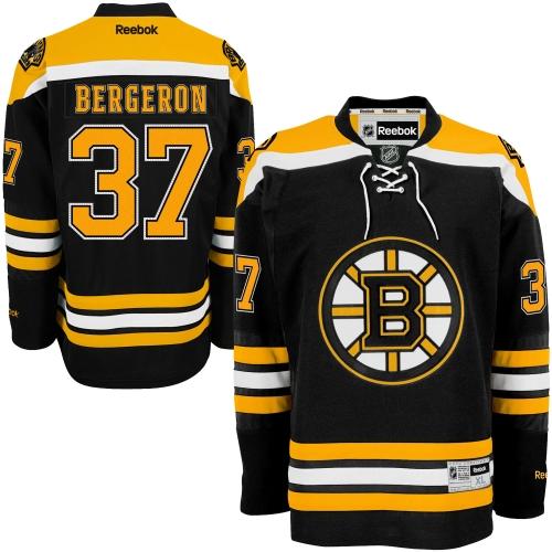 Reebok Patrice Bergeron Boston Bruins Premier Player Jersey - Black