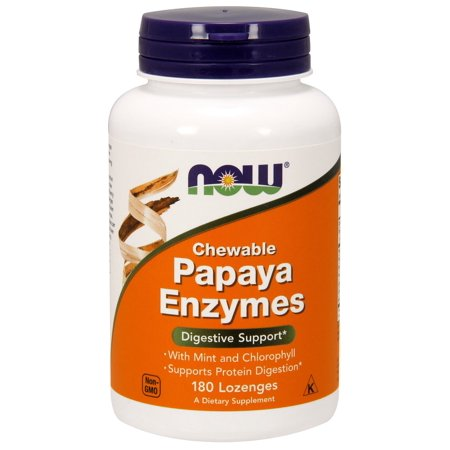 Foods Natural Enzymes - Papaya Enzyme Now Foods 180 Chewable