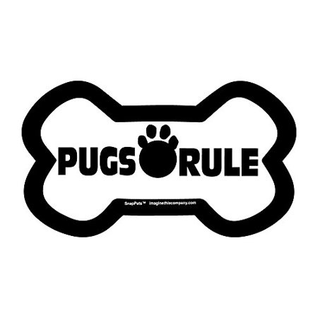 """Imagine This """"Pugs Rule"""" Breed Bone SnapPet Accessory for SpapPet Leash"""