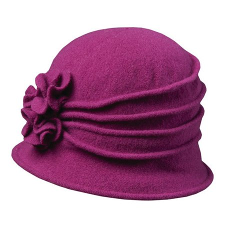 e77a473de6f scala - women s scala lw497 knit hat cloche with self flower - Walmart.com