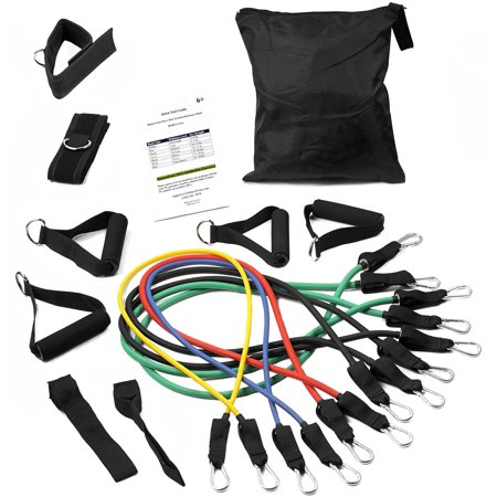 Balancefrom Heavy Duty Premium Resistance Band Kit With Improved Safe Door Anchor  Ankle Strap And Carrying Case