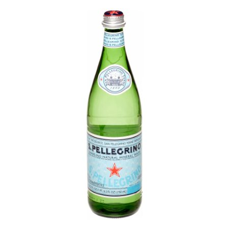 S.Pellegrino Sparkling Natural Mineral Water, 25.3 fl oz. Glass Bottles (12