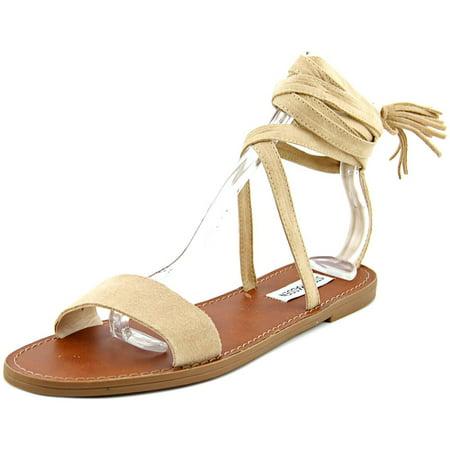 Steve Madden Kaara Women Open Toe Suede Tan Gladiator Sandal